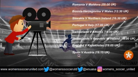 Live Streams for today's UEFA Women's World Cup Qualification