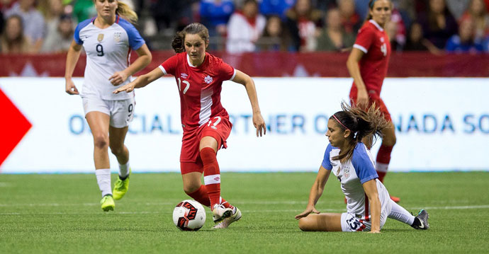 Match Report   Canada draw the USA 1-1 in front of a capacity crowd of 28,017