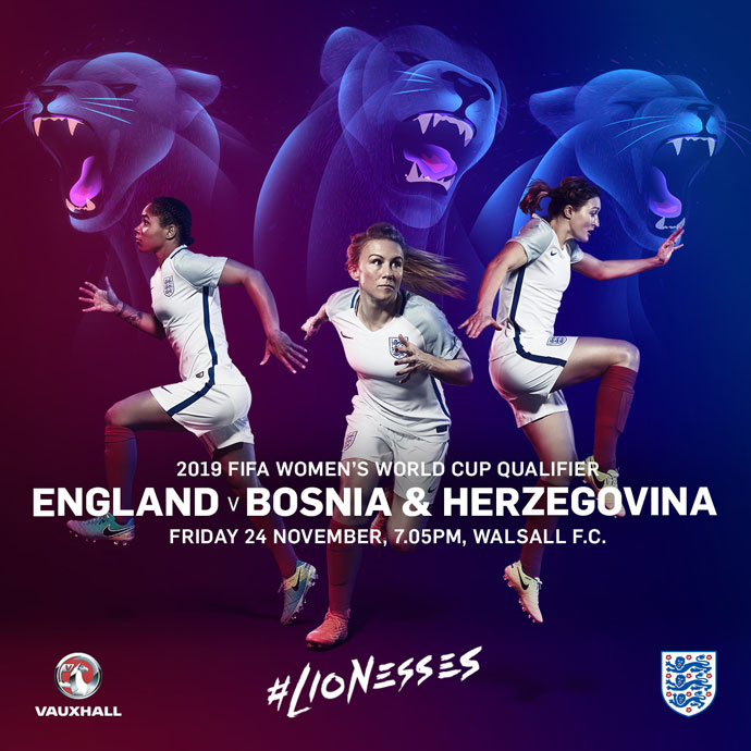 WIN | Family tickets for the World Cup qualifier between England and Bosnia & Herzegovina