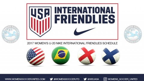 USA U-20 WNT will face Brazil, England and Finland in first Women's Nike International Friendlies from Dec. 7-11