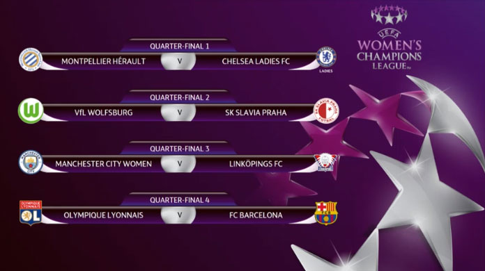 Result of the UWCL 2017/18 quarter-final draw