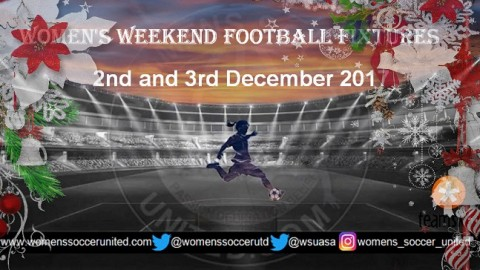 Women's Weekend Football Fixtures 2nd and 3rd December 2017