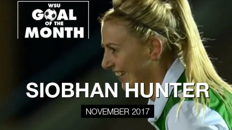 Siobhan Hunter wins WSU Goal of the Month – November 2017