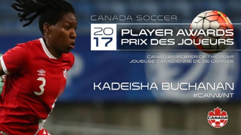 Kadeisha Buchanan named Canadian Player of the Year for the second time in three years