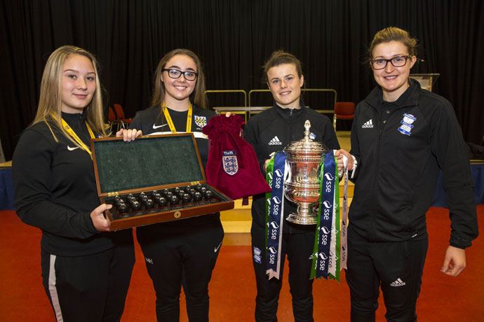 SE Women's FA Cup Third Round draw at Park Hall School in Birmingham