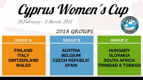 Participating Nations and Groups for Cyprus Women's Cup 2018