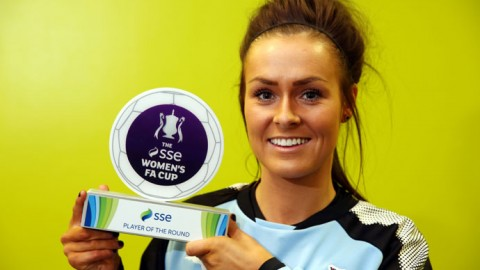 Newcastle United footballer Megan McKenzie named SSE Women's FA Cup player of the Round