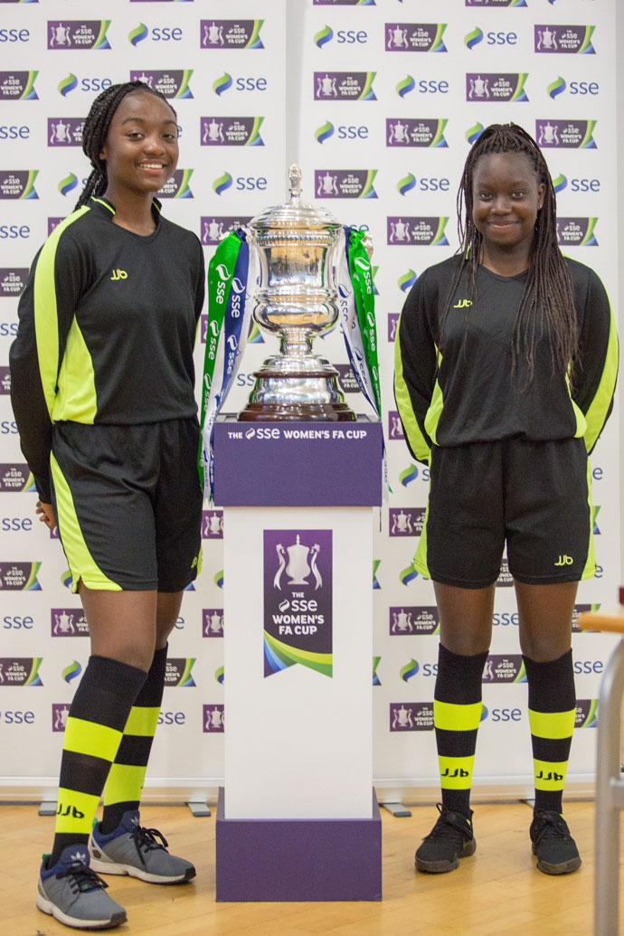 Students at a Gorton school received a special visit from two of Man City's stars as they hosted the fourth round draw of the SSE Women's FA Cup