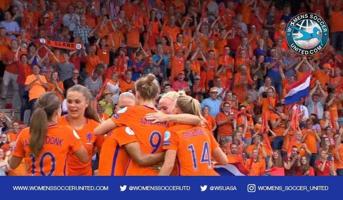 Netherlands women's national team celebrate