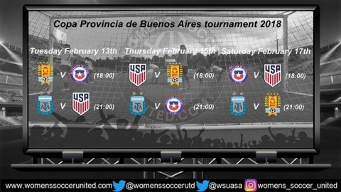 USA Women's U-17 Squad for Copa Provincia de Buenos Aires tournament 2018