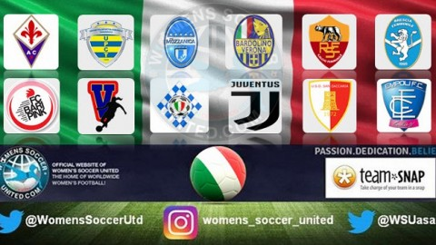 Juventus lead the Italy Serie A Femminile 22nd April 2018