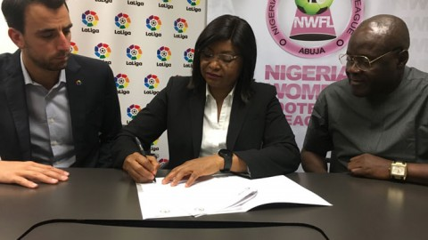 LaLiga and Nigeria Women Football League sign agreement to improve women's soccer in Nigeria and Spain.