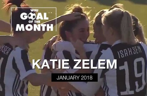 Katie Zelem wins WSU Goal of the Month – January 2018