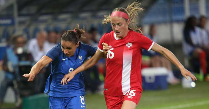 Canada Women's National Team to play France 9 April in Rennes
