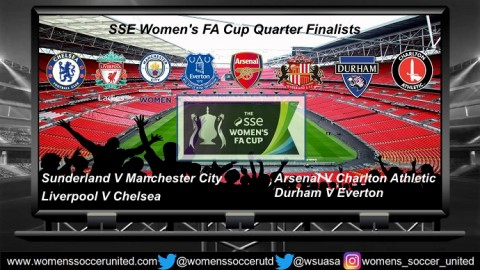 SSE Women's FA Cup 2018 Quarter Final Draw