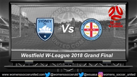 Sydney FC play Melbourne City Westfield W-League 2018 Grand Final