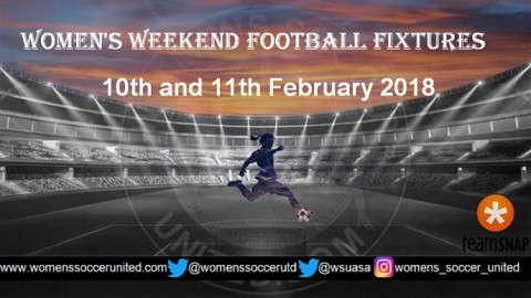 Women's Weekend Football Fixtures 10th and 11th February 2018
