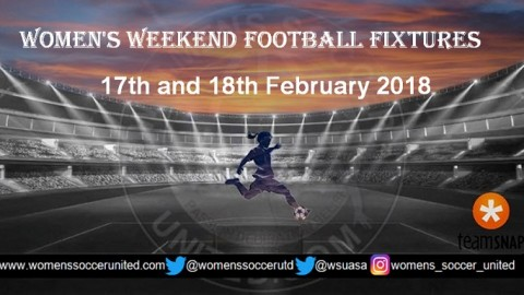 Women's Weekend Football Fixtures 17th and 18th February 2018