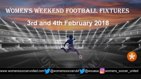 Women's Weekend Football Fixtures 3rd and 4th February 2018