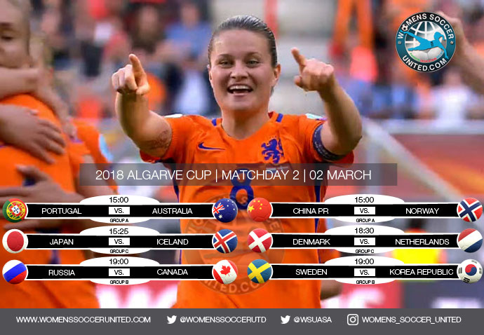 Algarve Cup 2018 | Day Two, Group stage