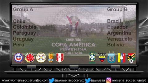 Copa América Femenina Chile 2018 Groups Announced