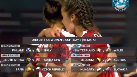 Cyprus Women's Cup 2018 | Day Three, Group stage