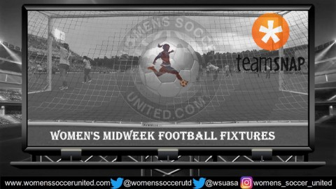 Women's Midweek Football Fixtures 4th to 8th June 2018