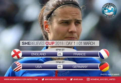 Day One at the SheBelieves Cup 2018