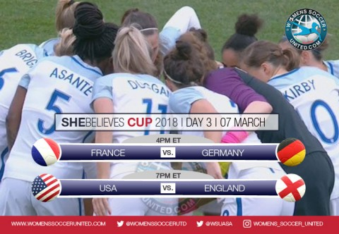 Day Three at the SheBelieves Cup 2018