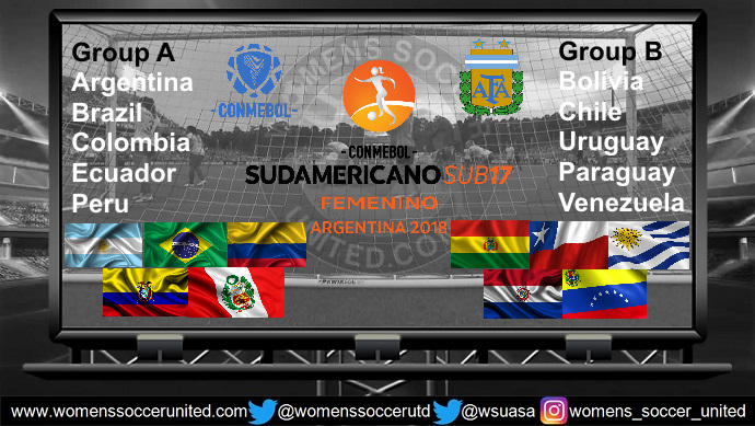 Sudamericano Femenino Under-17 2018 teams