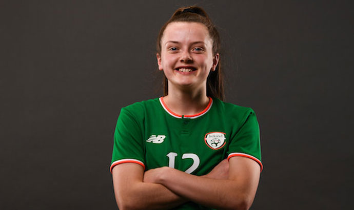 Republic of Ireland Women's Under-17 midfielder Tyler Toland / SPORTSFILE