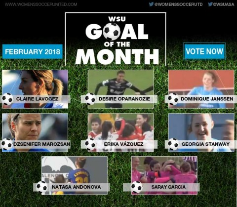 VOTE: WSU Goal of the Month – February 2018