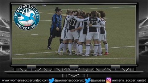 FC Juventus Women lead Italy Serie A Femminile 25th March 2018