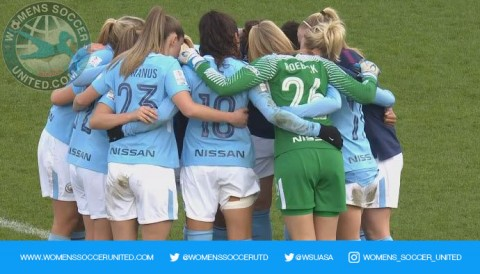Manchester City Women claim first leg victory