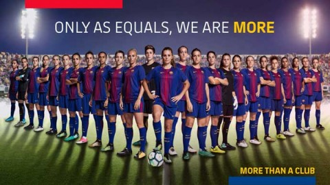 FC Barcelona support International Women's Day