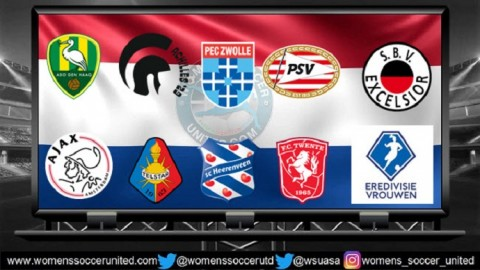 Netherlands Women's Eredivisie Match Results 30th March 2018