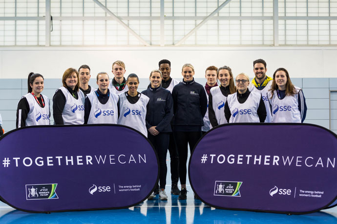 England legend Kelly Smith helps launch SSE campaign to inspire positive change on and off the football pitch