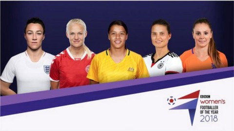 Nominees for BBC Women's Footballer of the Year 2018 announced