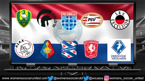 AFC Ajax lead the Netherlands Women's Eredivisie 21st April 2018