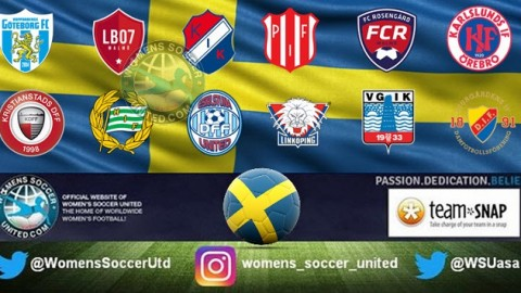 Piteå IF lead the Sweden Damallsvenskan 29th April 2018