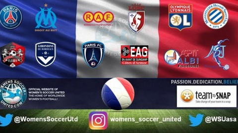 Olympique Lyonnais lead French Feminine Division 1 1st April 2018