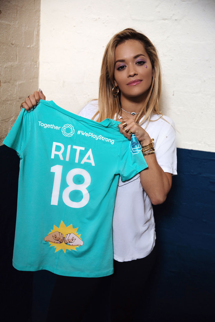 Rita Ora backs UEFA's Together #WePlayStrong campaign