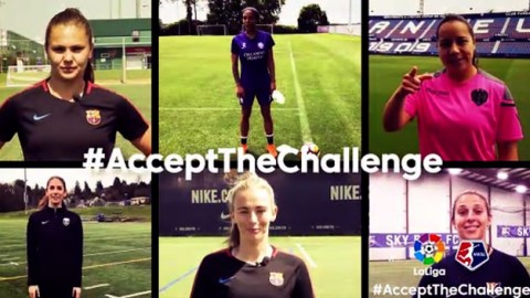 Make the first football challenge launched by professional women go viral!