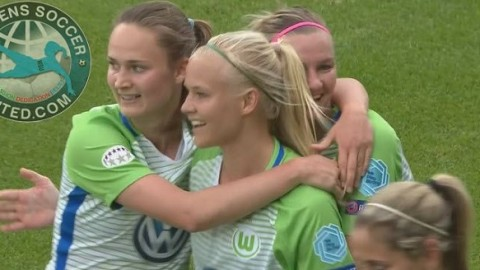 Wolfsburg's Pernille Mosegaard-Harder Top Goalscorer with one game to go!