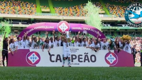 Sporting CP WIN the Liga Futebol Feminino Allianz 2018
