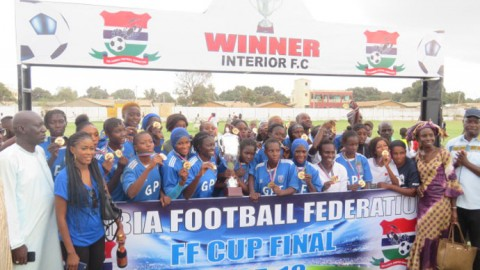 Interior beat Red Scorpions to win Gambia women's football clasico