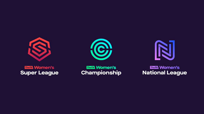 The FA unveils new branding for Tiers 1 to 4 of the restructured English women's football pyramid