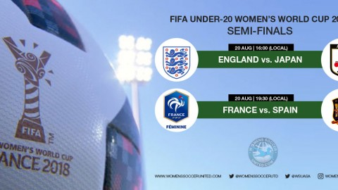 Follow live match commentary from the 2018 FIFA Under-20 Women's World Cup Semi-finals