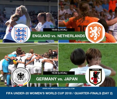 Live match updates: England v Netherlands & Germany v Japan | 2018 FIFA U-20 Women's World Cup quarter-finals