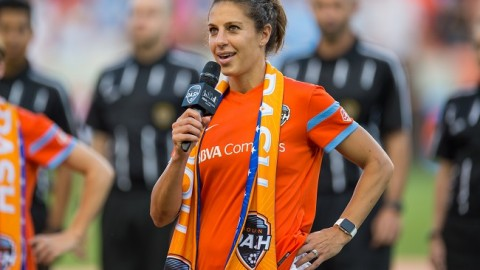 Houston Dash Midfielder Carli Lloyd Voted NWSL Player of the Month